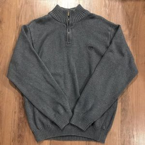 Men's Izod pullover zip-up sweater